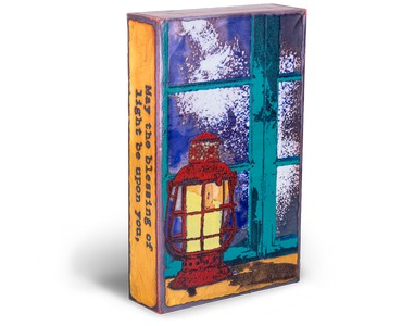 glass art painting, Spiritile, Houston Llew, author quotes,