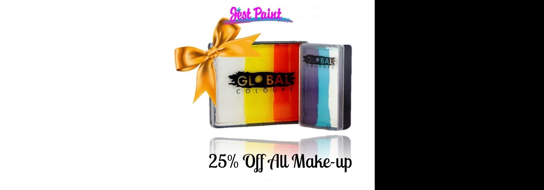 Global, Jest Paint, Mehron, makeup, face painting