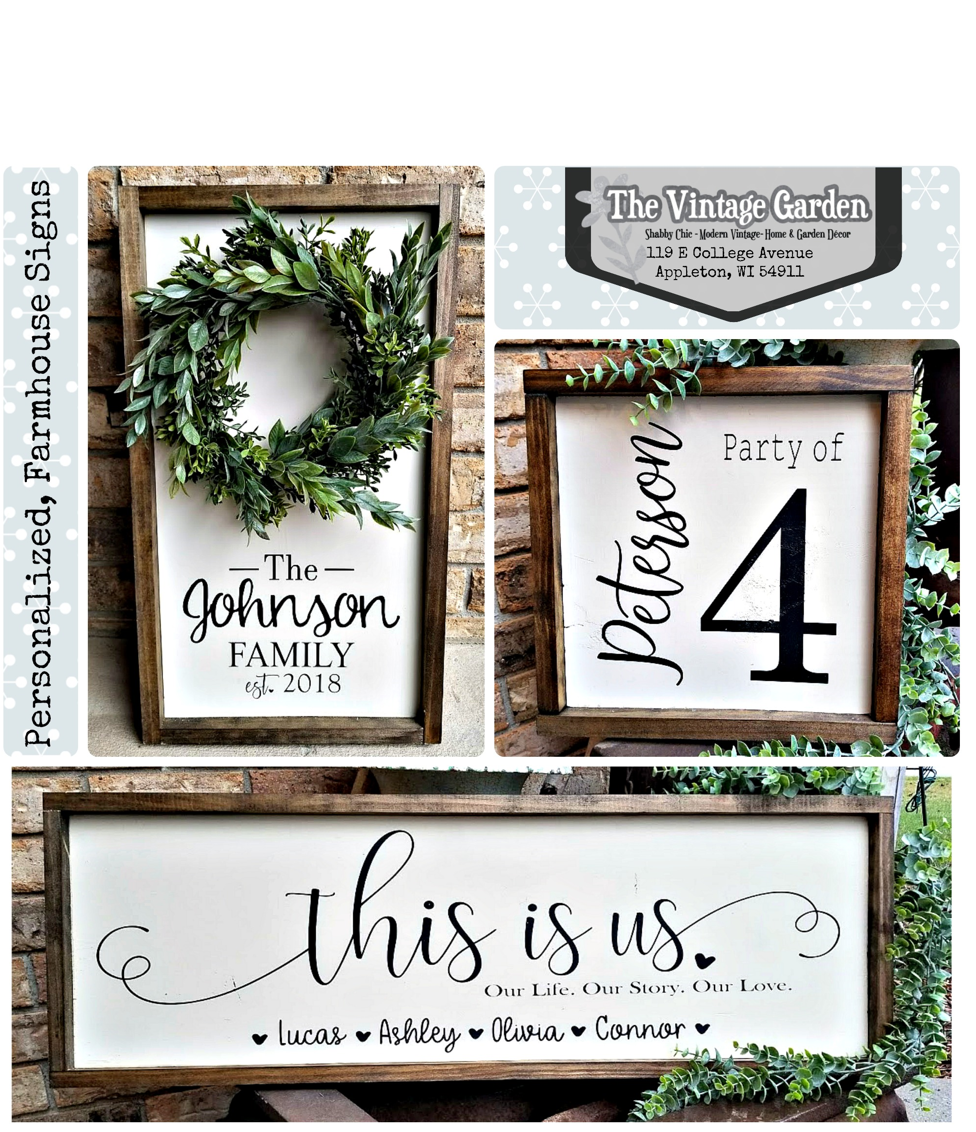 Personalized, Farmhouse Signs!
