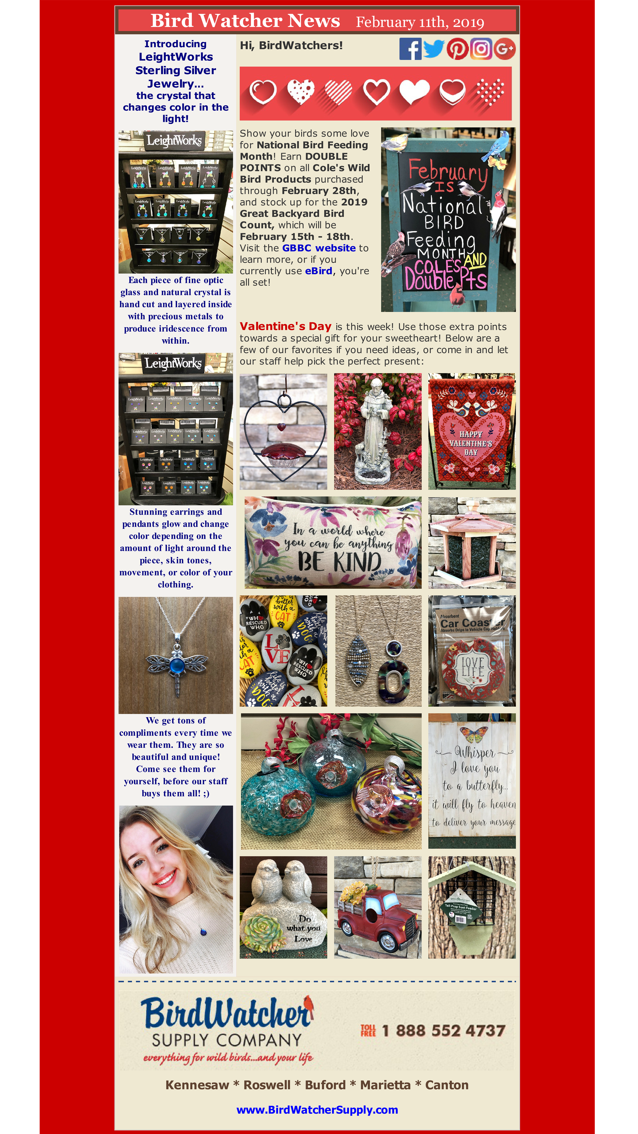 shop local, shop small, gifts, garden, valentine's day, jewelry, double points