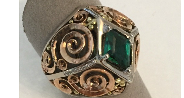 A custom designed ring from Gemstone Creations.