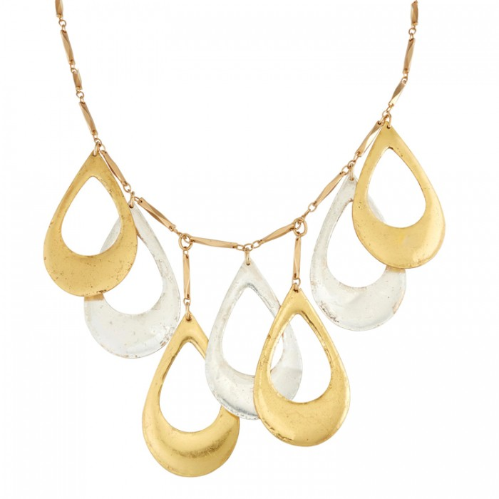 cuffs, necklaces, bracelets, 22Kt gold leaf, silver leaf, art-driven jewelry, Barbara Innamorati , USA hand-made, chic jewelr