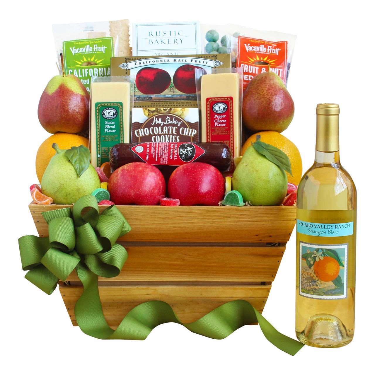 California_Delights_Wine_&_Fruit_Gift_Basket
