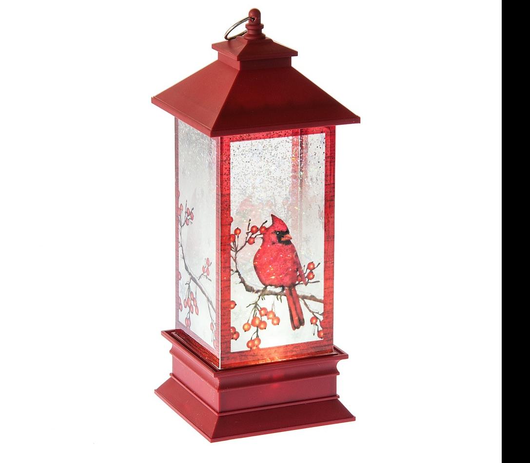 Shimmering Cardinal Lantern