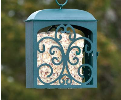 suet, suet feeder, decorative feeder, bird feeding