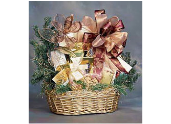 Large gourmet holiday gift basket
