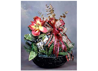 Hunter green holiday gift basket