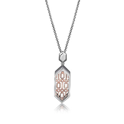 Rose Gold Plated Lattice Necklace