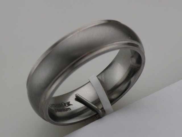 Titanium Domed Band