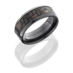 Black Zirconium & Carbon Fiber Band