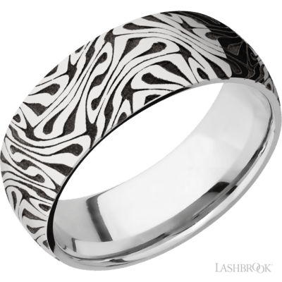 Cobalt Chrome Carved Band