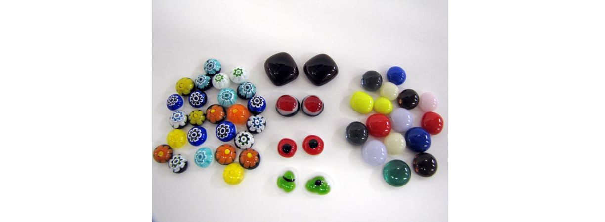 Fused Glass Parts, Pieces, Eyes Class