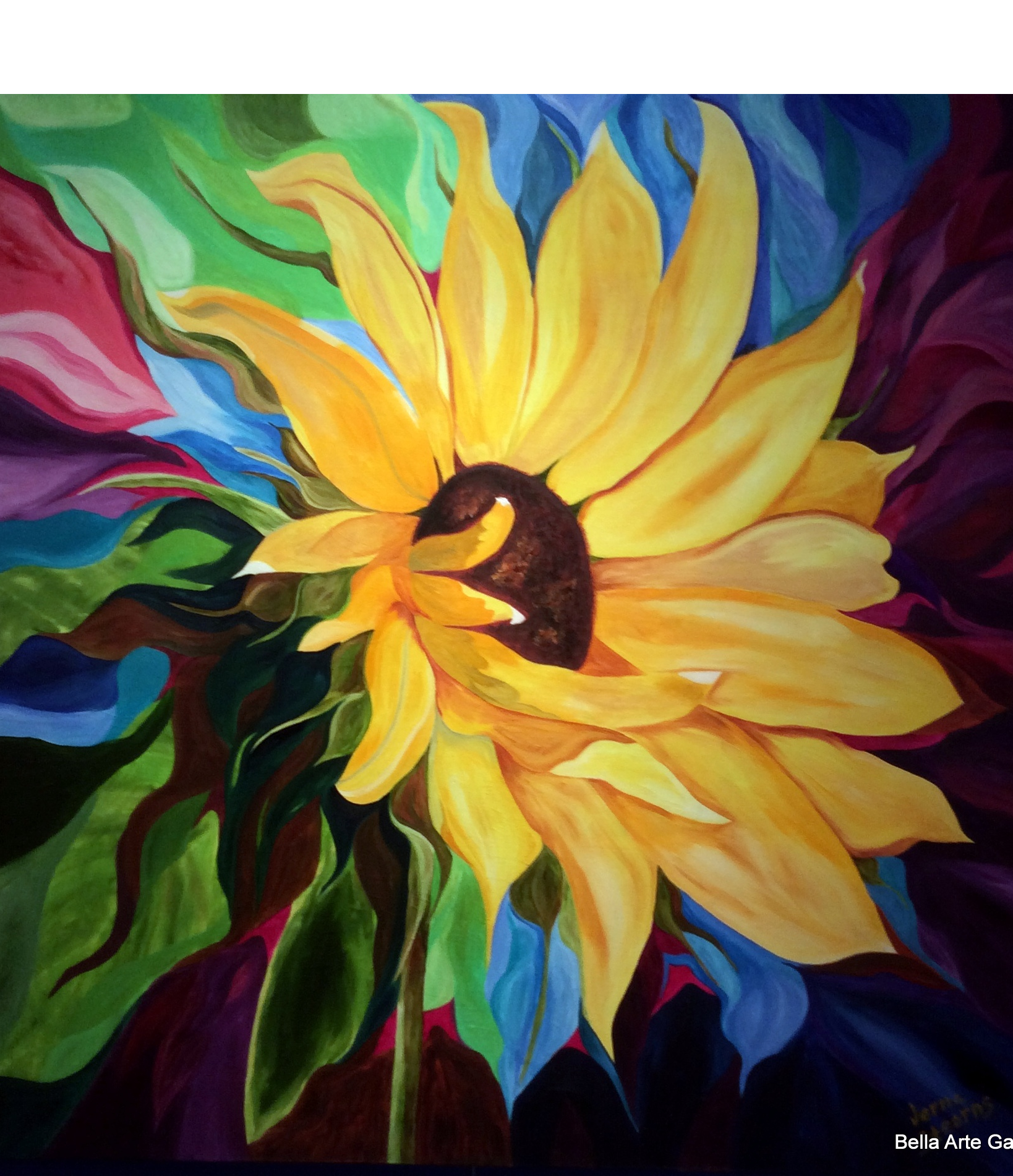 floral art, originals, oil paintings, bright colored flowers, expressionism, Multiple Sclerosis, bright colored art, brilli