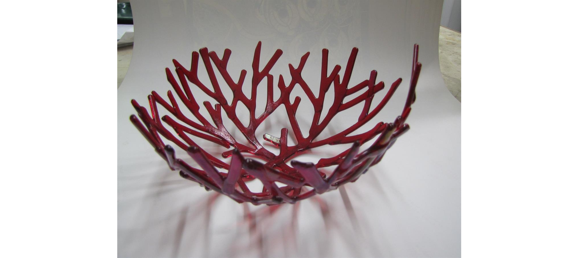 Fused Coral Bowl