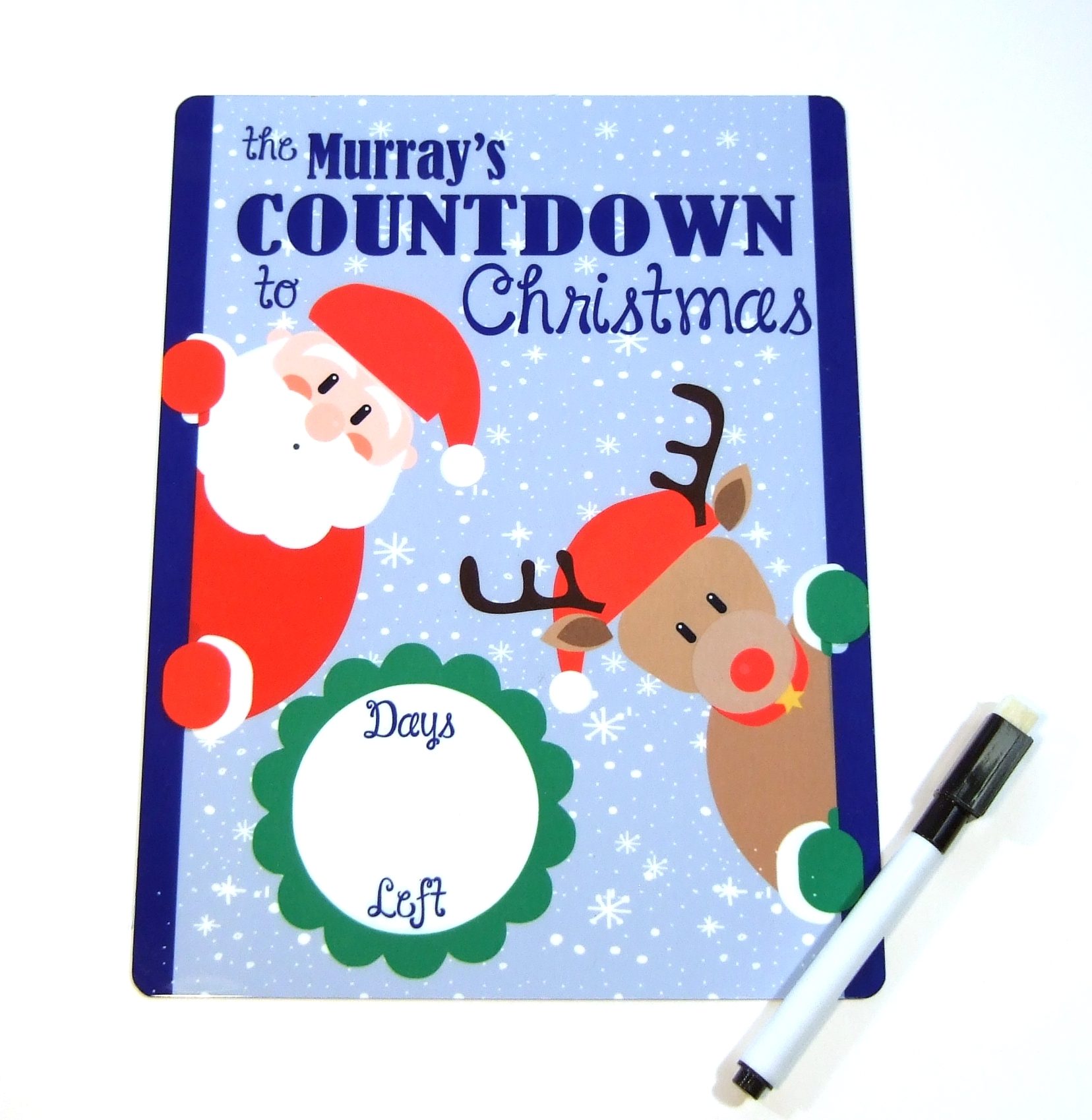 Countdown to Christmas Dry erase board DEB1012
