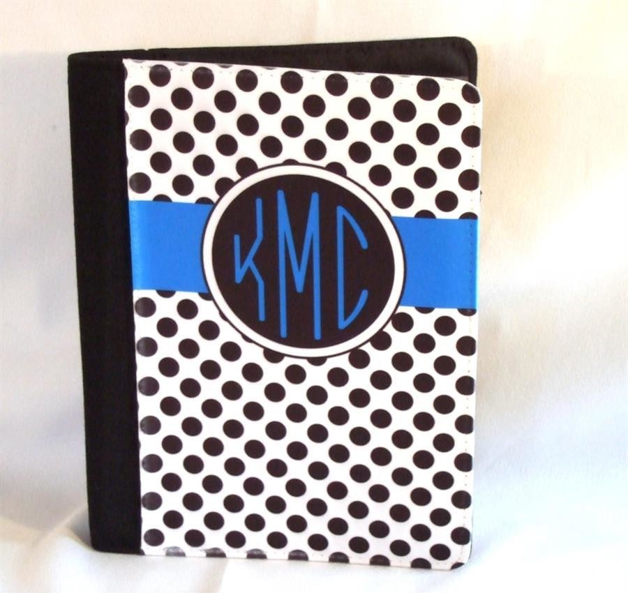 Personalized notebook with monogram