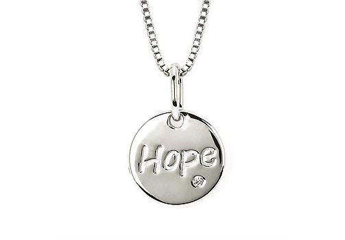 silver necklace hope diamond accent