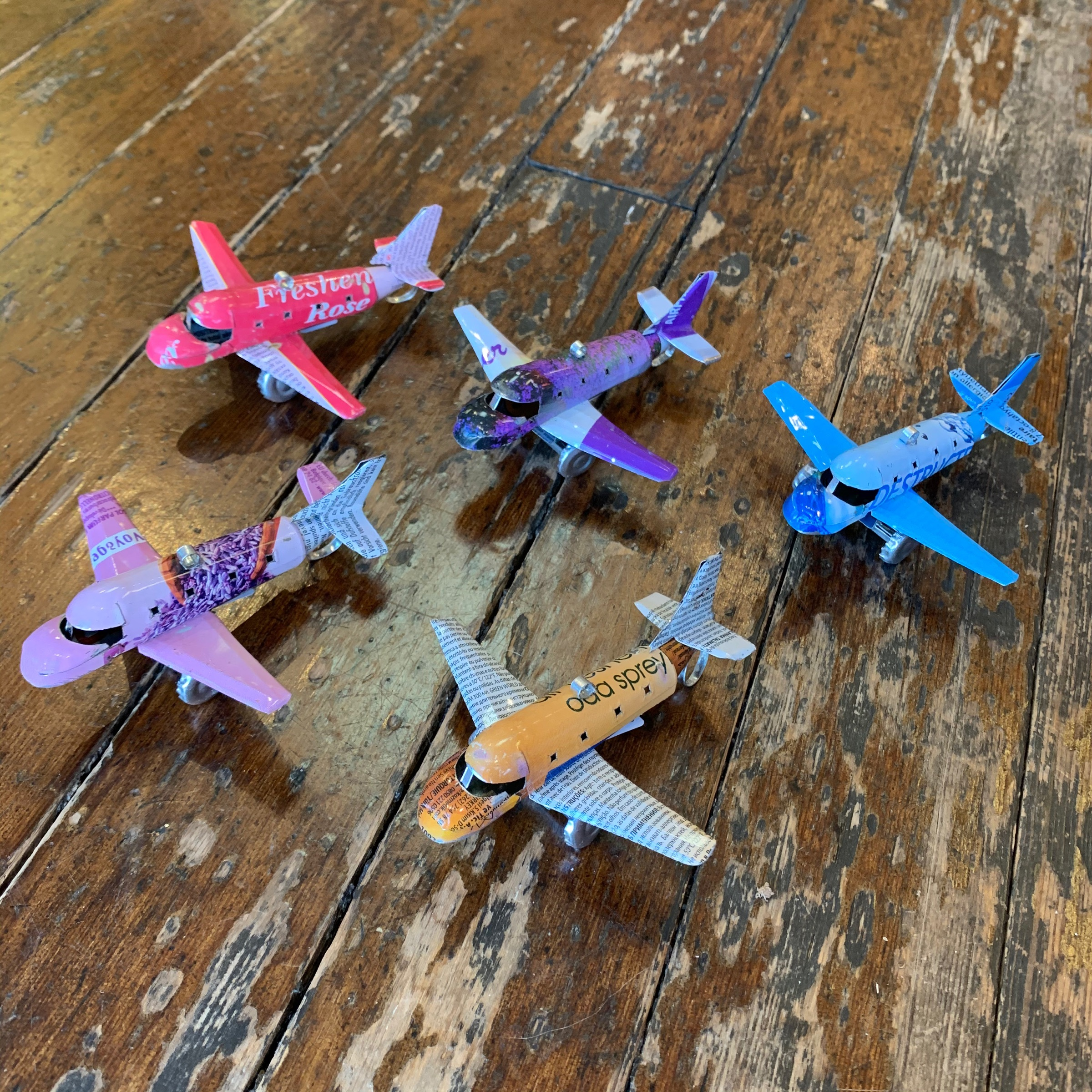 Recycled Tin Planes