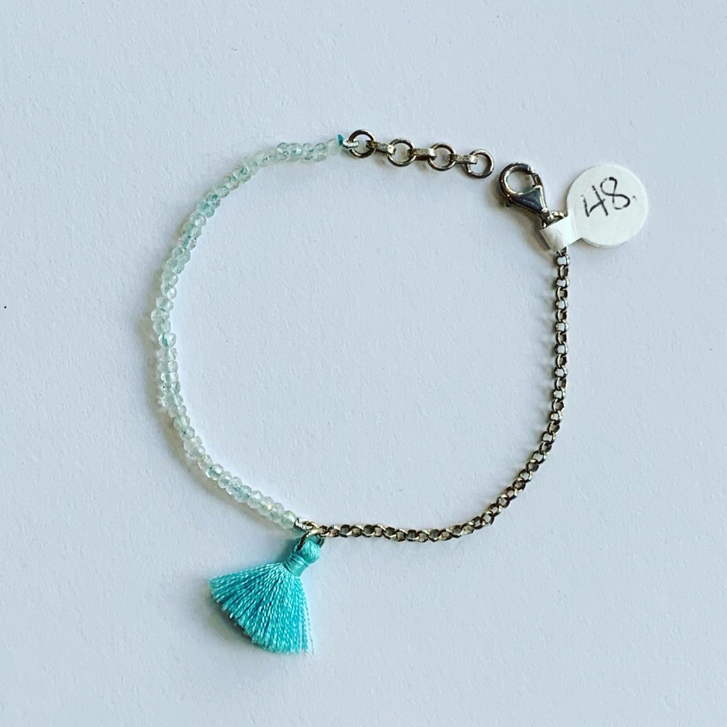Blue Topaz Tassel Bracelet