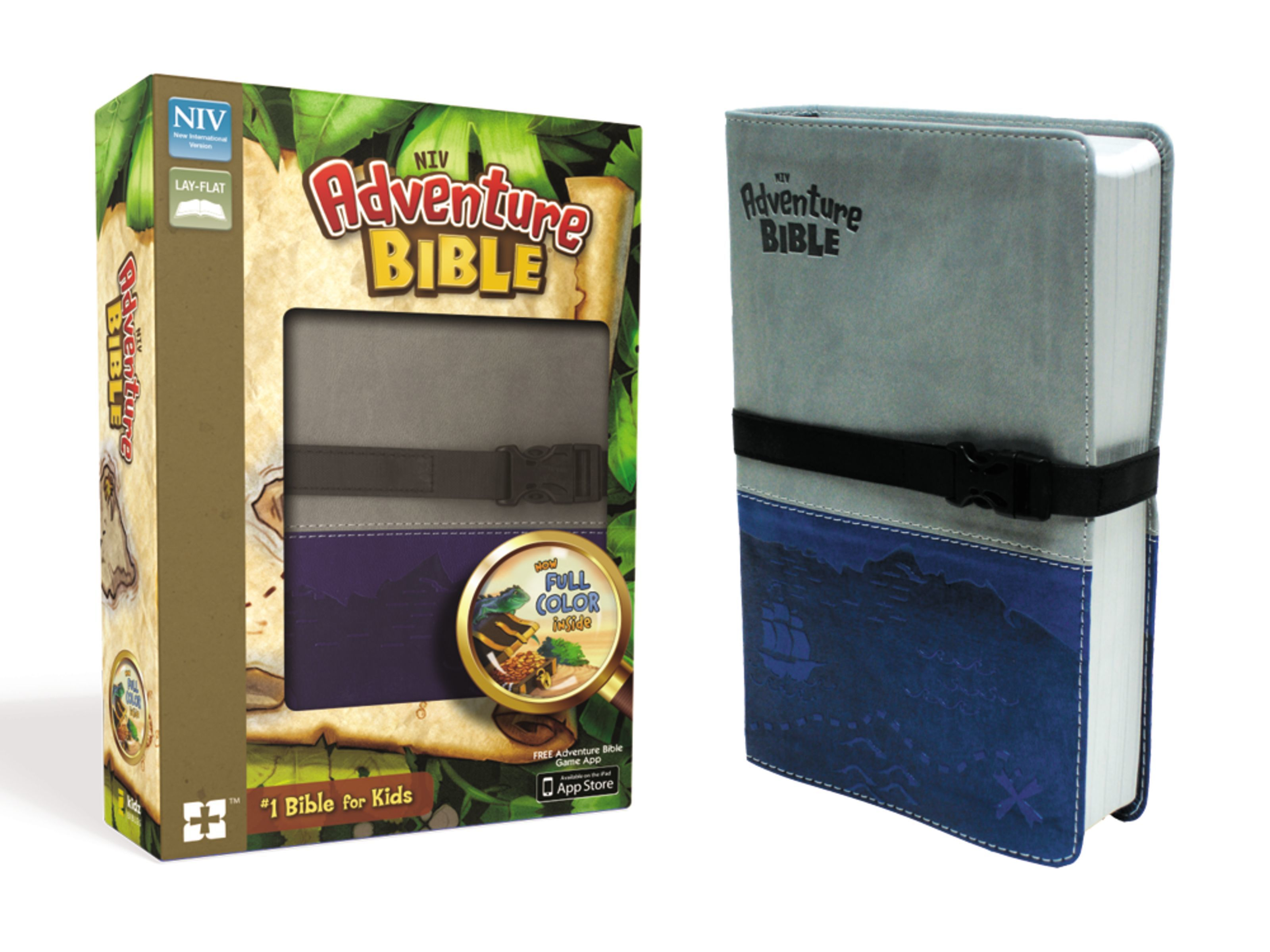 NIV Adventure Bible- Blue/Gray w/Strap