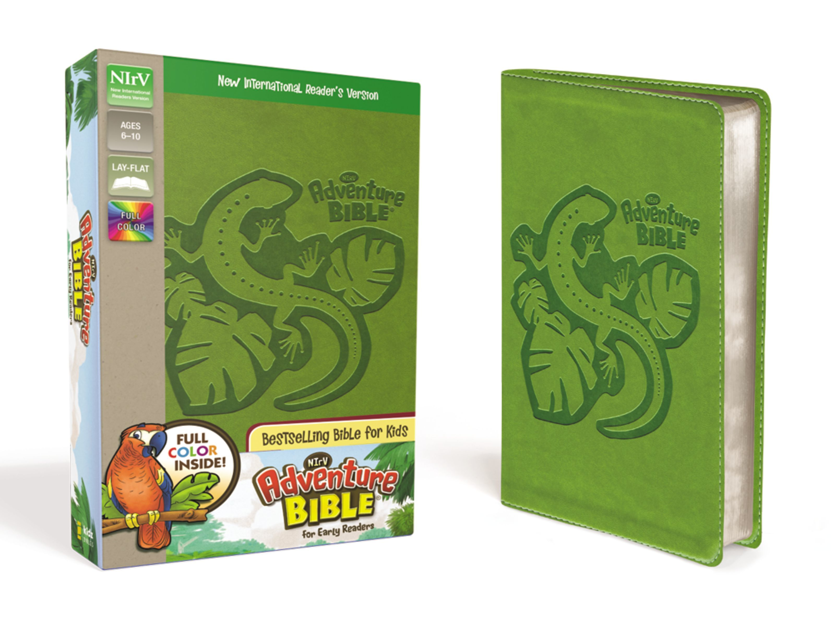 NIrV Adventure Bible- Green Lizard
