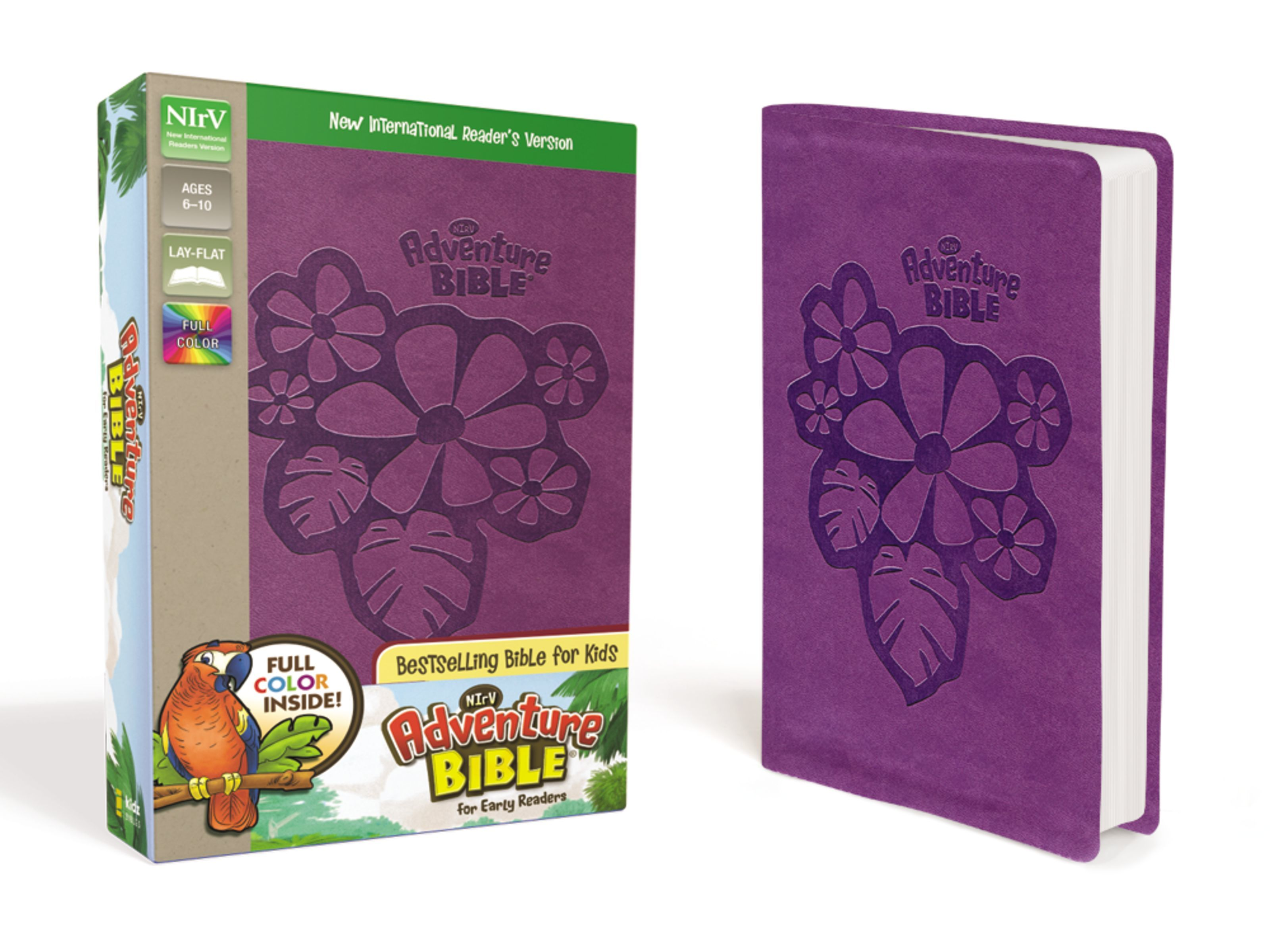 NIrV Adventure Bible- Purple Flowers