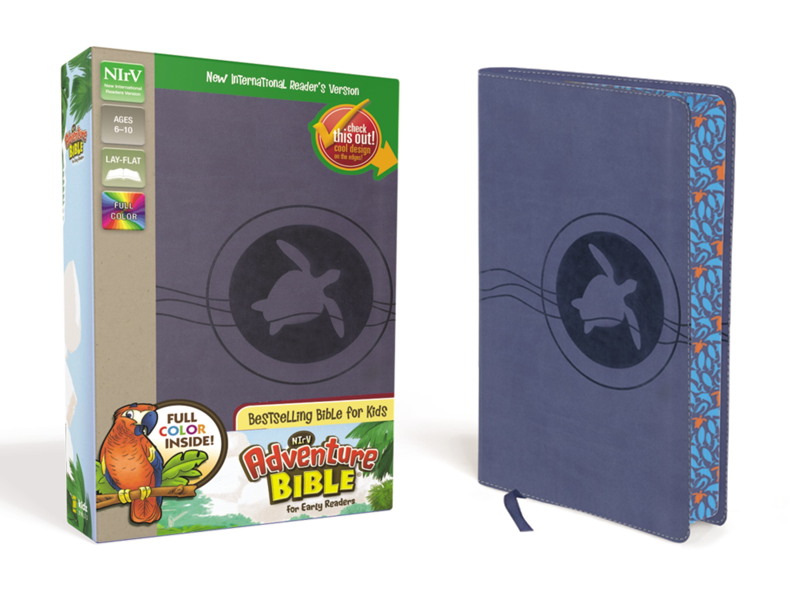 NIrV Adventure Bible- Blue Turtle