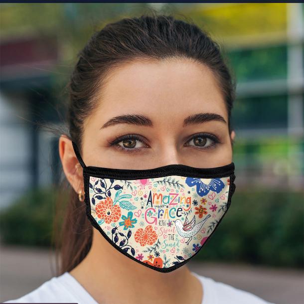 Mask Amazing Grace Floral w/ Bird
