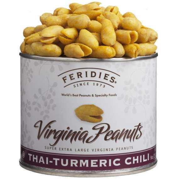 turmeric, virginia peanuts, virginia, peanuts, Feridies, snacks, gourmet