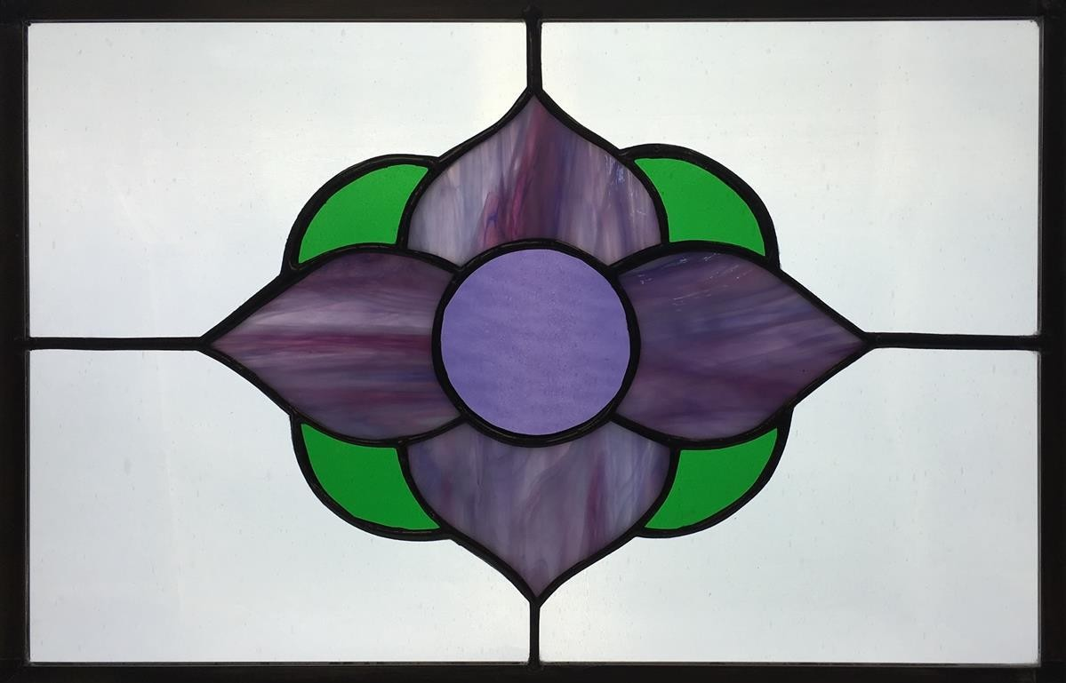 beginner copper foil stained glass example
