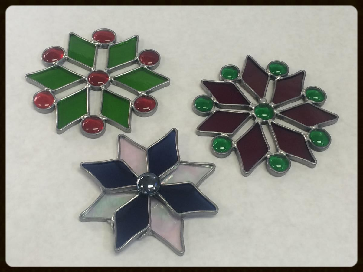 glass snow flake class examples