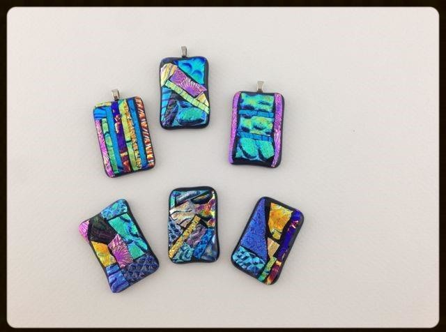 Fusing youth mosaic dichroic pendant example
