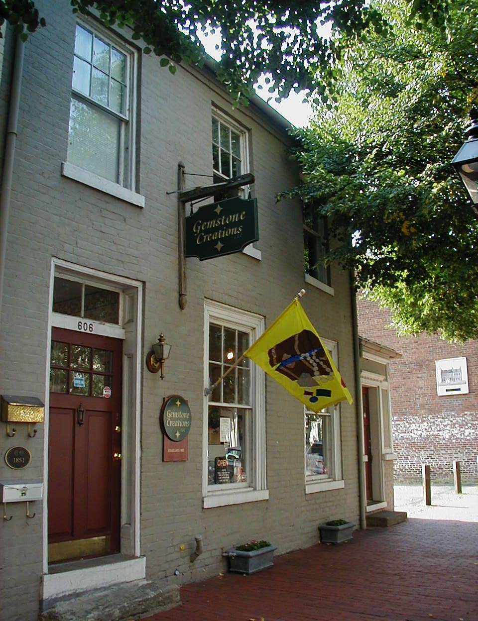 Our store an historic 1851 row house, Gemstone Creations
