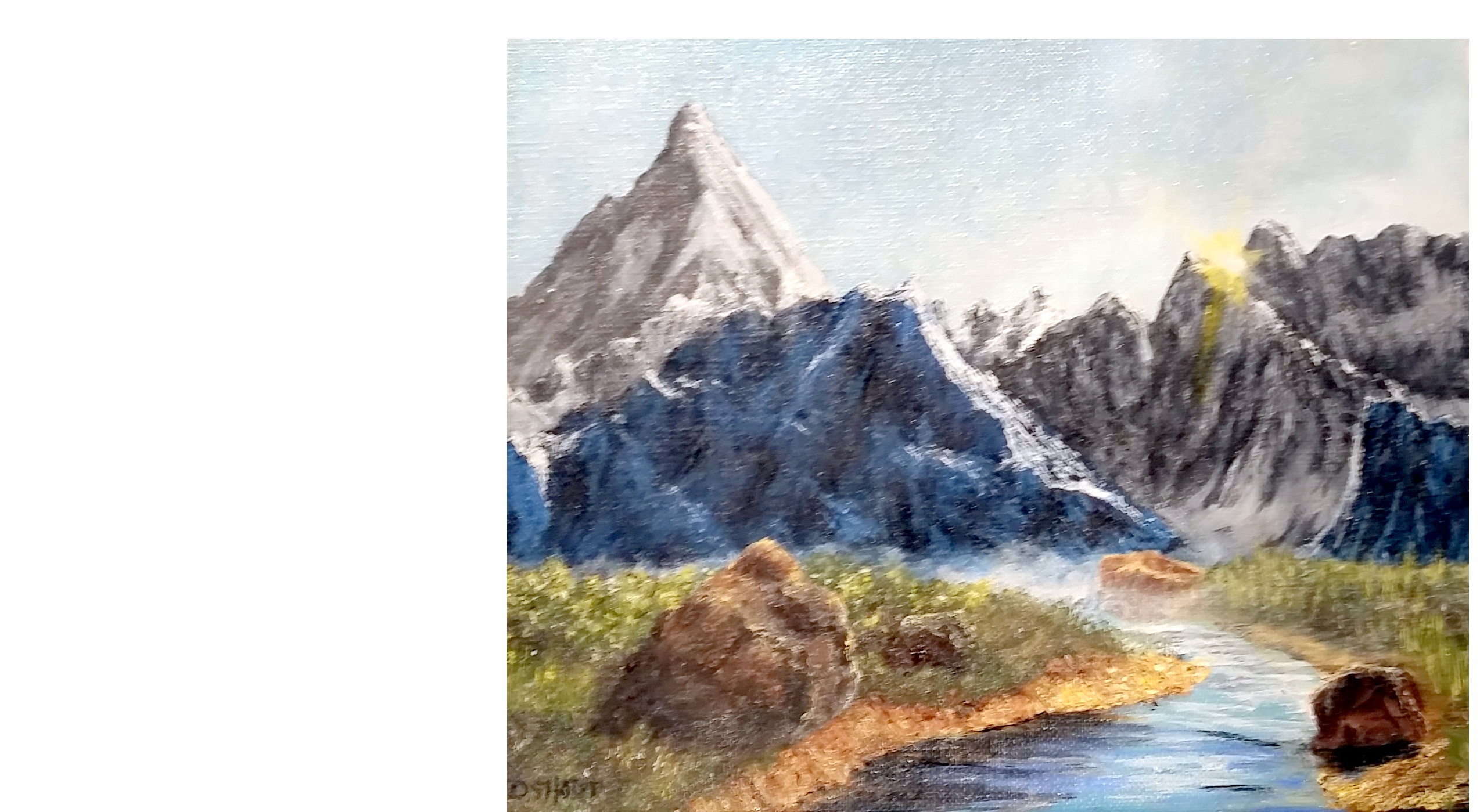 David Short, Altitude paintings, Contemporary Artist, Realist painter, trains, mountains, Milky Way, Ireland, oil paintings, original art, Virginia Artist, local RVA artist