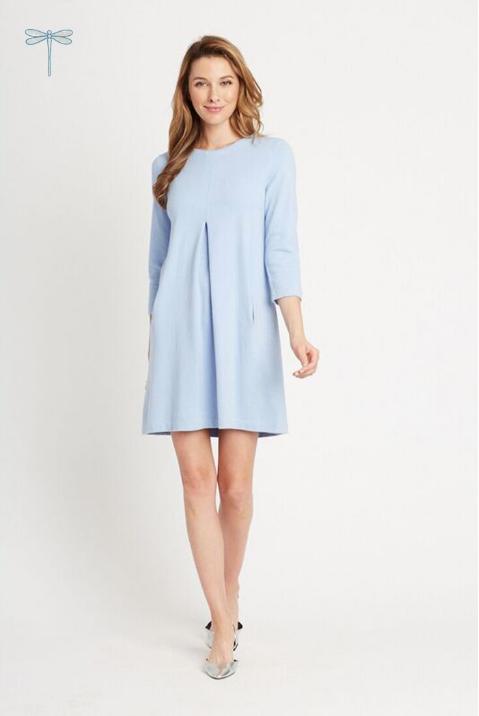Cotton/Cashmere Kim Dress in Ice Blue