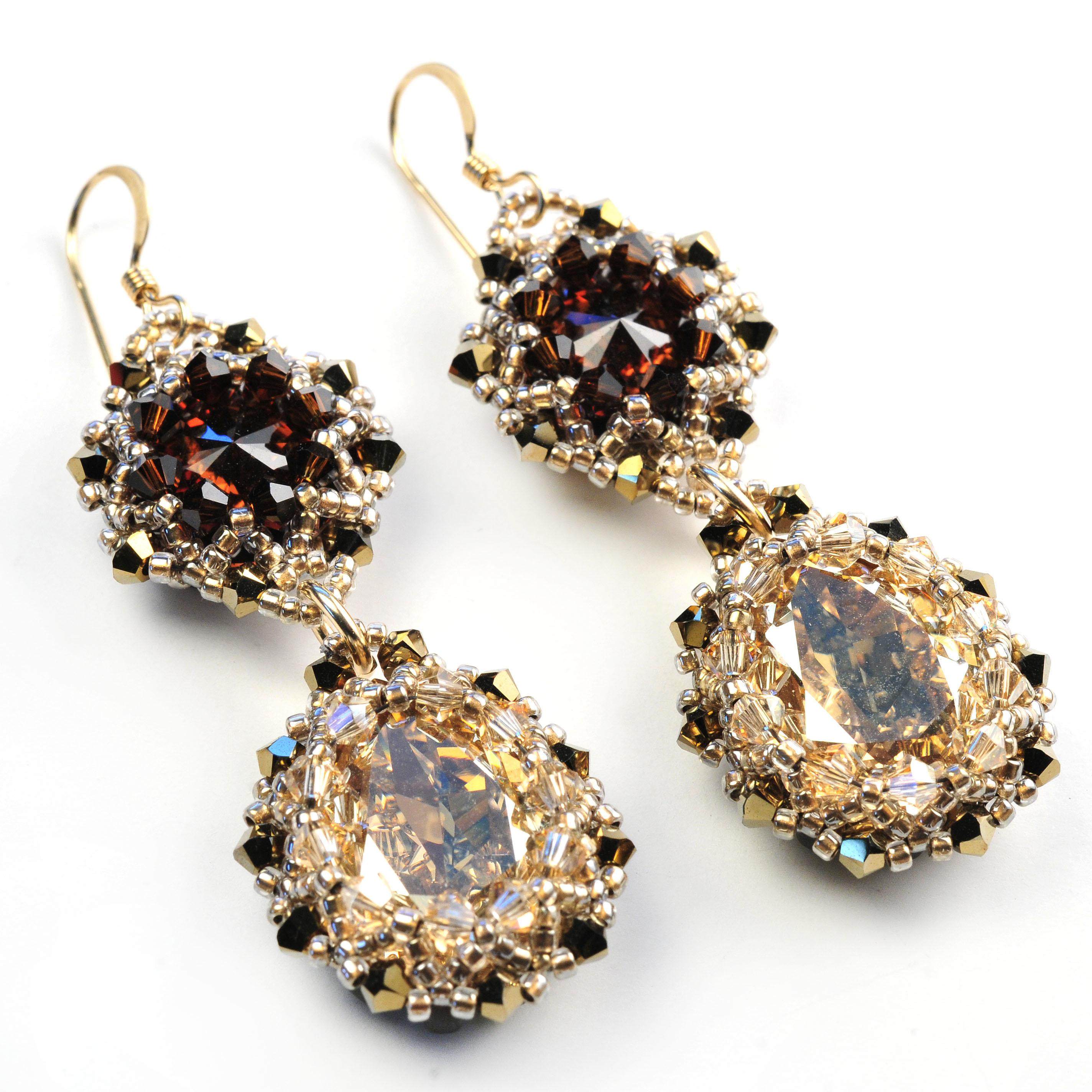Double Drop Crystal Earrings