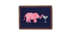 Smathers & Branson Pink Elephant Martini Credit Card Wallet