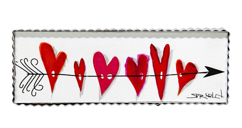 Arrow and Heart Canvas