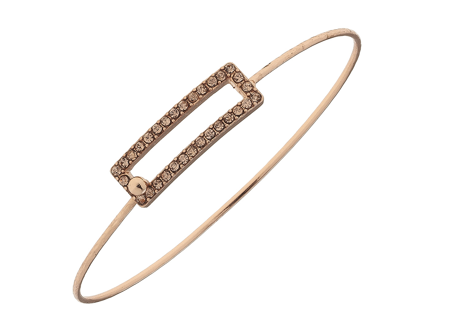 Pave Open Rectangle Bracelet