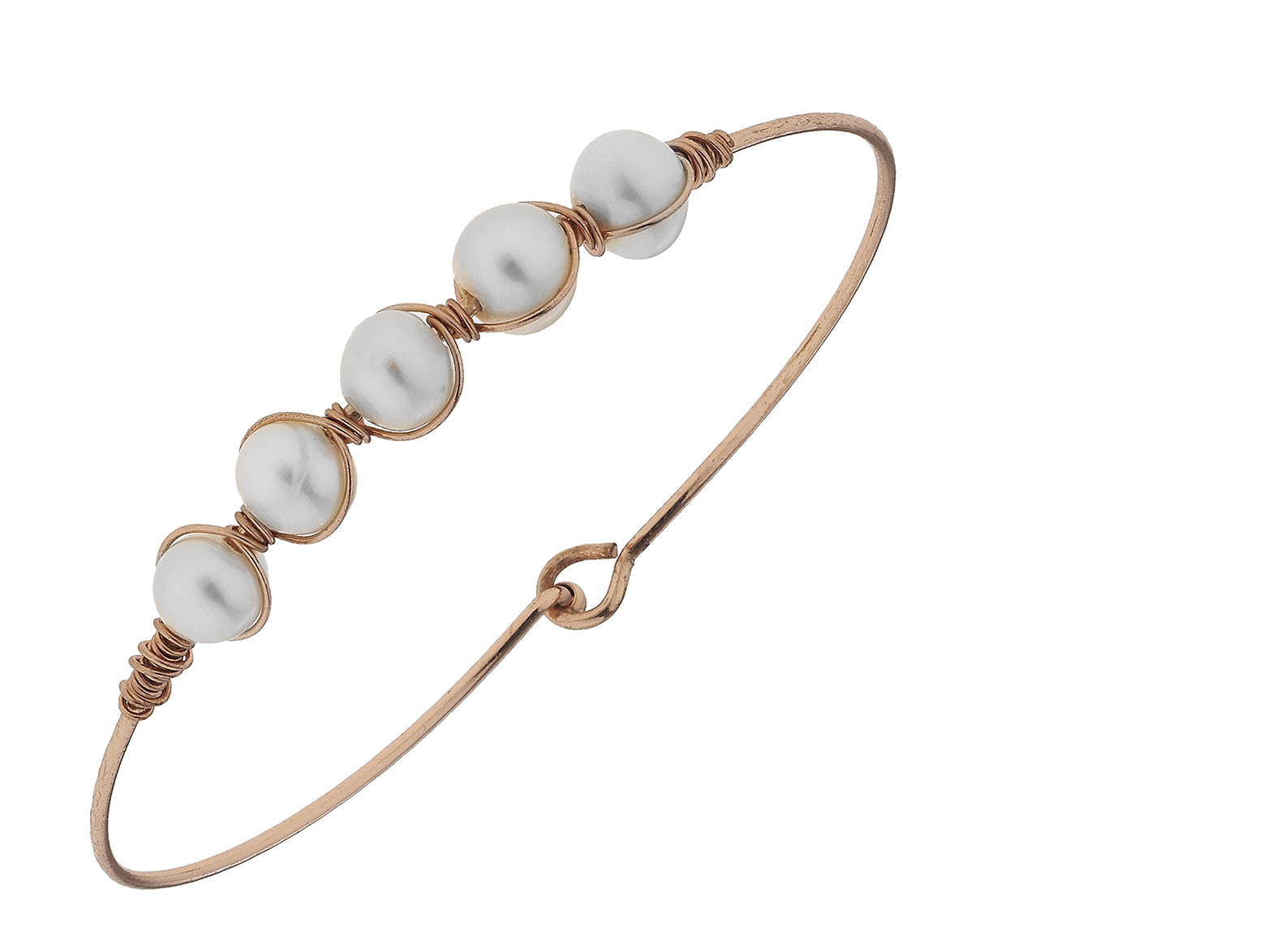 Pearl Wired Bangle Bracelet