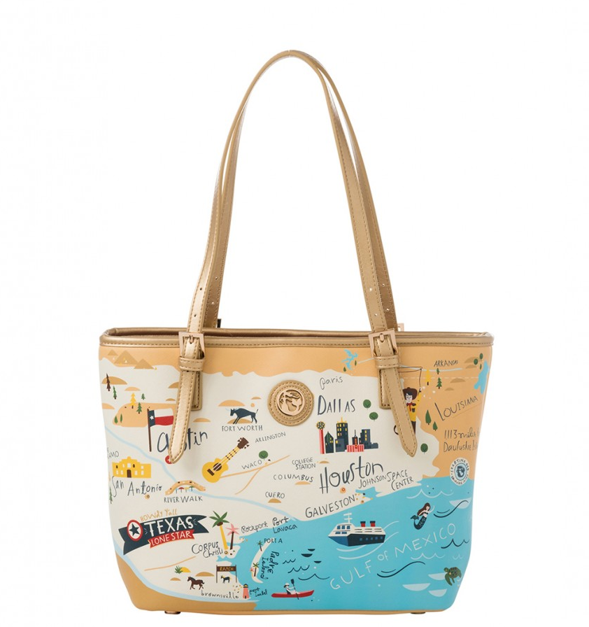 Texas Map Small Tote
