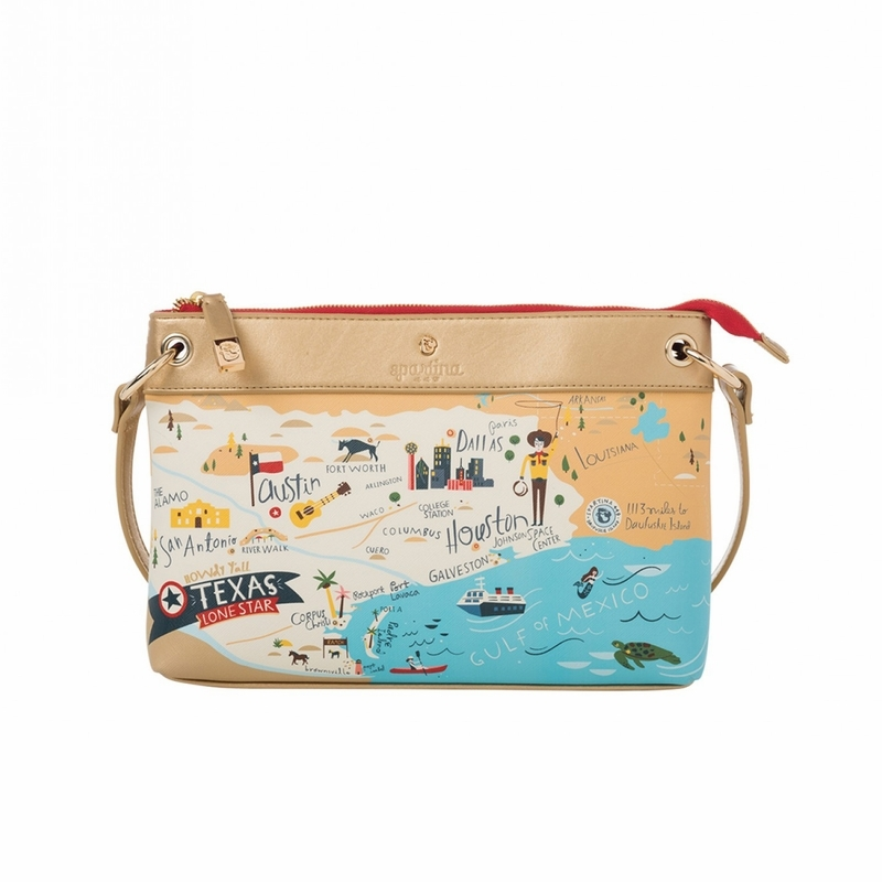 Texas Map Cross Body