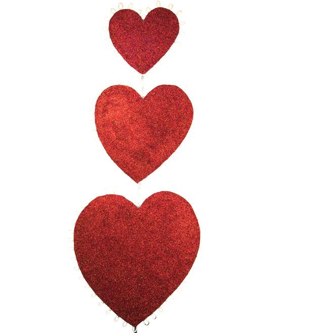 3 Heart Topiary