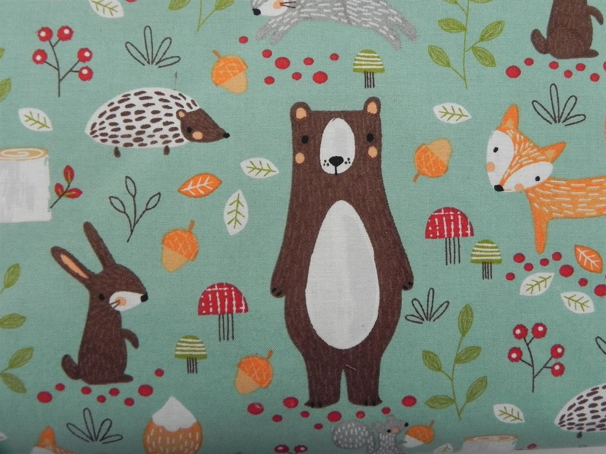 fabric_cotton_bear_forest