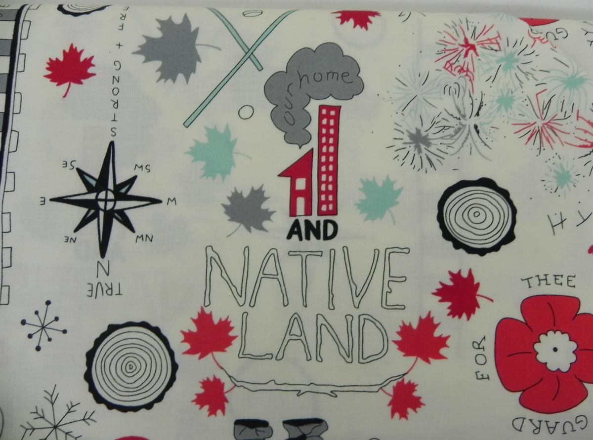 cotton_fabric_Canada_anthem