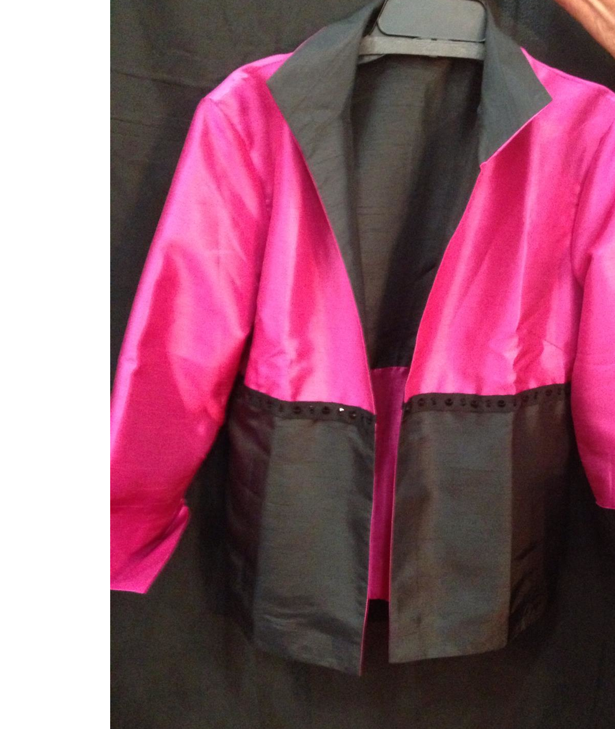 Fuchsia/Black Jacket w/Black Crystals