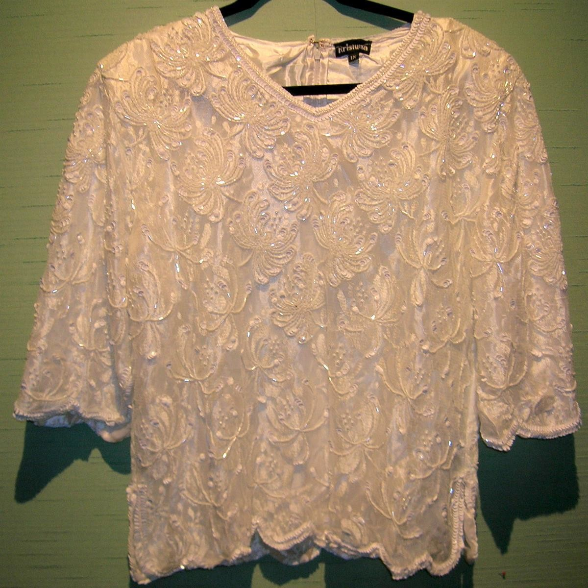 White Beaded Top-Lace