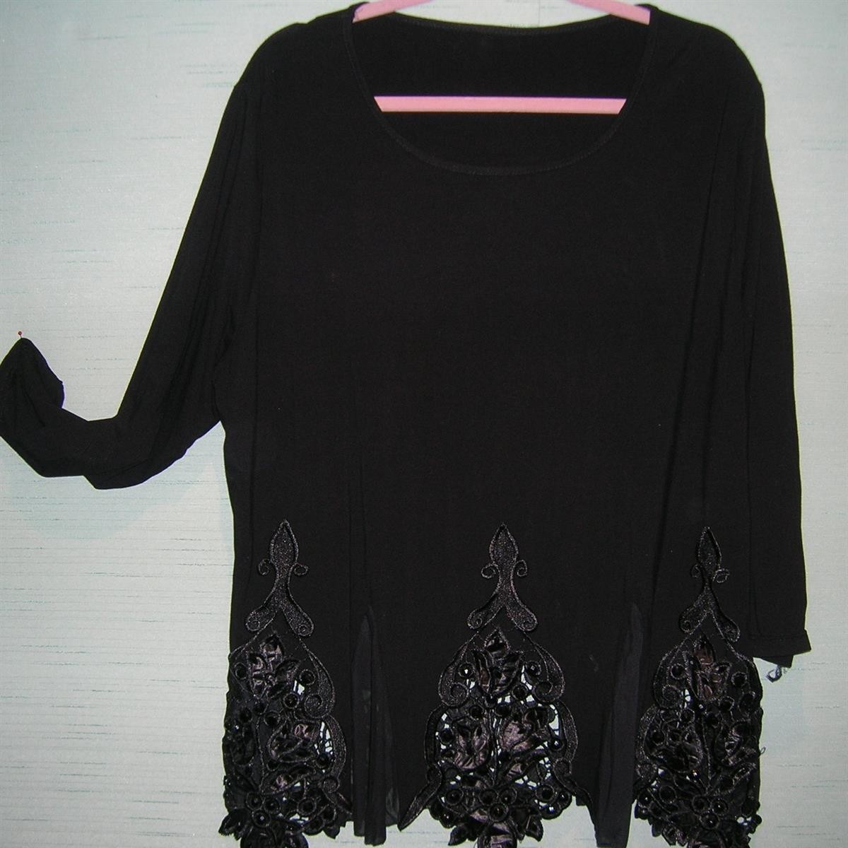 Black Beaded Top