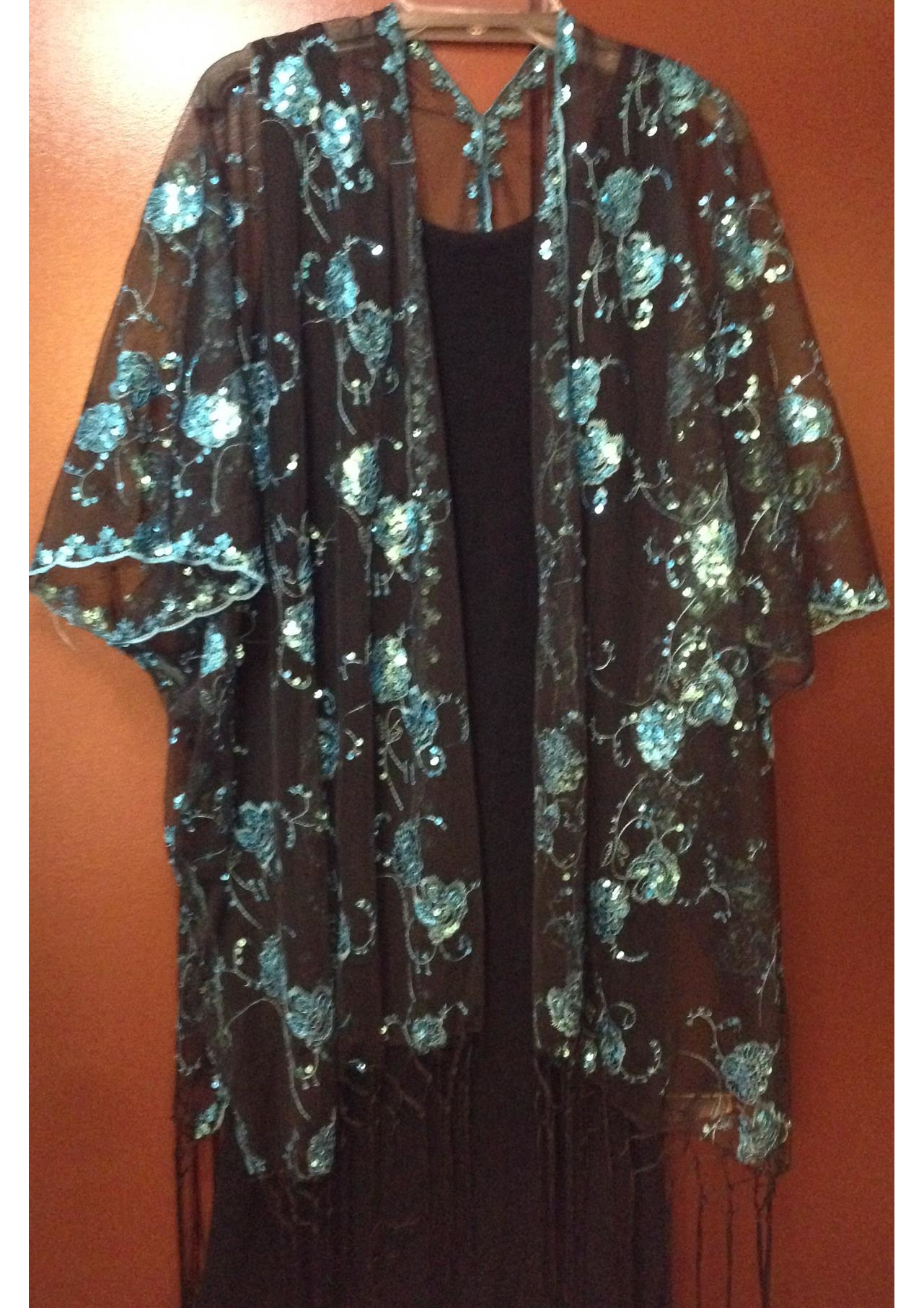 Sequin Shawl Jacket