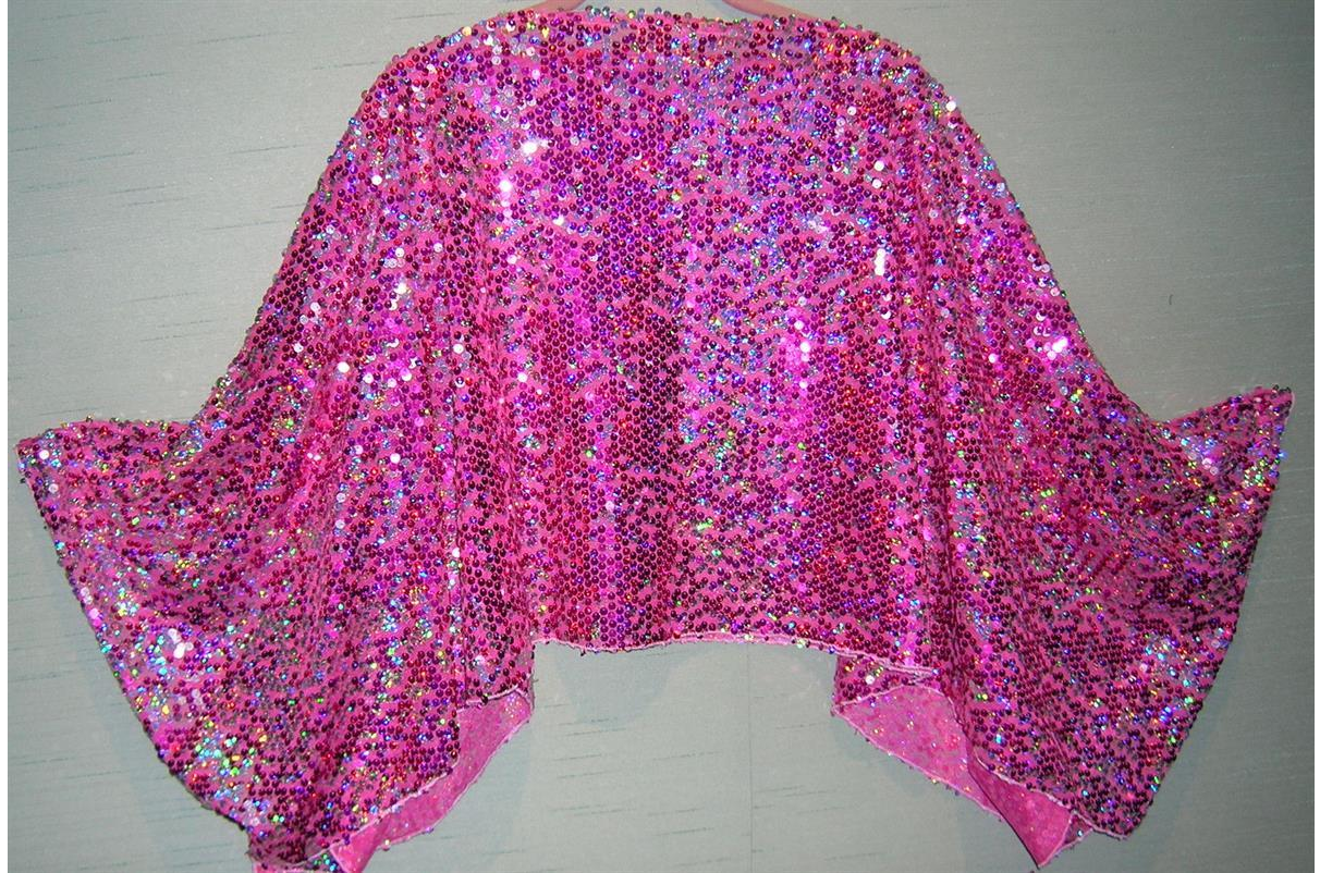 Fuchsia Sequin Topper